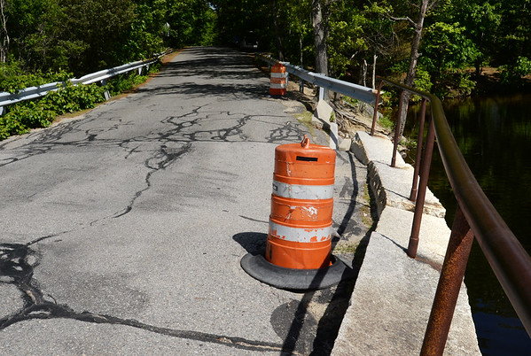 BRYAN EATON/Staff photo. The city of Newburyport is looking to repair this bridge on Plummer Spring Road which goes over the Artichoke Reservoir.