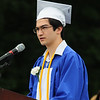 JIM VAIKNORAS/staff photo Salutatorian Kai Yeaton gives his address at Georgetown's Commencement at Perley School Field Saturday.