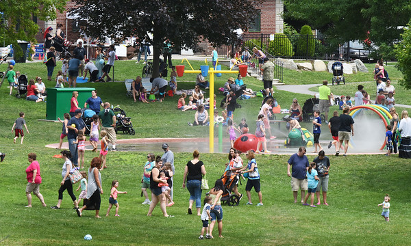 BRYAN EATON/Staff photo. There was a big turnout at Amesbury Days' Kids Day in the Park with the weather cooperating.