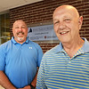 BRYAN EATON/Staff photo. George Fraley, left, and his father Chuck work at the Anna Jaques Hospital.