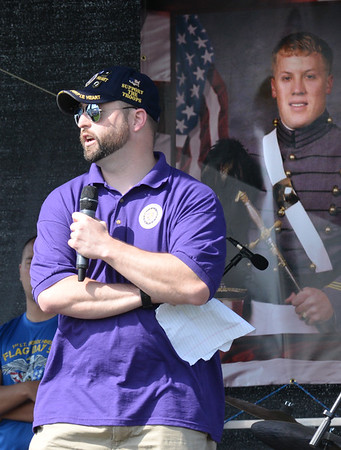 BRYAN EATON/Staff photo. Beneficiary of the Home Base Program which helps veterans at home, Kurt Power.
