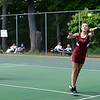 BRYAN EATON/Staff photo. Sophie Page, left, and Emma Filipancic in first doubles action with Weston.