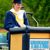JIM VAIKNORAS/staff photo Triton valedictorian Peter Jankowski speaks  at commencement exercises in Byfield Saturday.