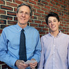 BRYAN EATON/Staff photo. Daily News managing Editor Richard K. Lodge, left, presents one of two Alan J. White scholarships to Newburyport High School senior Thomas Furlong.