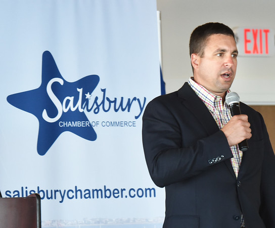 BRYAN EATON/Staff photo. Mass. Environmental Secretary Matthew Beaton was guest speaker at the Salisbury Chamber of Commerce's Annual Dinner on Thursday night.