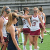 JIM VAIKNORAS/staff photo Newburyport's Jennifer Stuart celebrates against Lynnfield at World War Memorial Stadium in Newburyport Saturday.