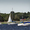 BRYAN EATON/Staff photo. A sailboat catches an onshore wind as it cruises up the Merrimack River to the Newburyport waterfront in a view from Joppa. The weekend looks good for outdoor activities, though chance of shower is possible, especially early Saturday morning.