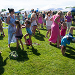 JIM VAIKNORAS/Staff photo Peopel dance under blue skies at the Fourth annual Byfield Music and Arts Festival at Manter Field in Byfield Saturday.