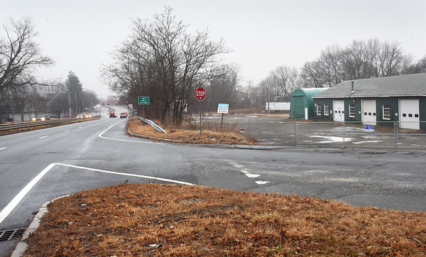 BRYAN EATON/Staff photo. There's a proposal to put a hotel on the site of the old Enpro land, right, on Route One southbound in Newburyport just before the intersection with Low Street.