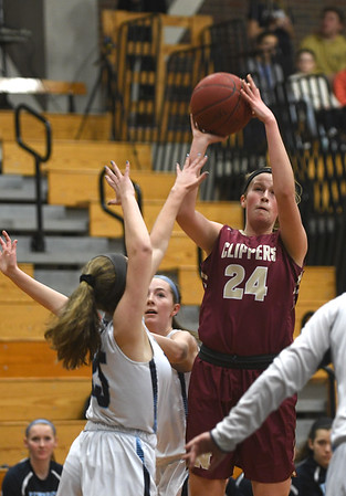 JIM VAIKNORAS/Staff photo  Newburyport's Abigail Gillingham with a jump shot at Triton Friday night.