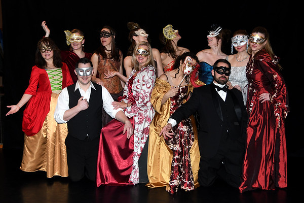 JIM VAIKNORAS/Staff photo <br /> Members of the Exit Dance Theatre prepare for A Midwinter Night's Masquerade Ball which will be held Feb 8th at Newburyport City Hall.