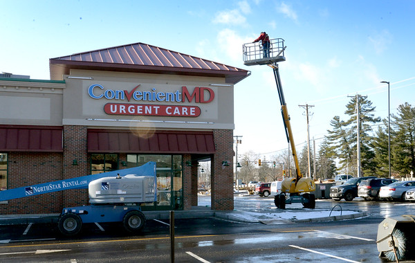 BRYAN EATON/Staff photo. The Convenient MD urgent care office is taking shape on Storey Avenue in Newburyport.