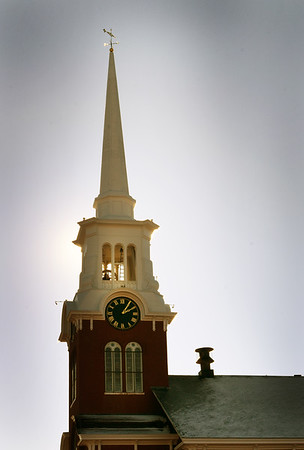 BRYAN EATON/Staff photo. The Central Congregational Church on Newburyport's Brown Square.