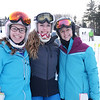 BRYAN EATON/Staff photo. Georgetown High School Ski Team captains, from left, Brenna Slomski, Caroline Bortz and Lily Fullford.