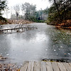 BRYAN EATON/Staff photo. The pond which is retained by the dam at Maudslay State Park which is slated for restoration.