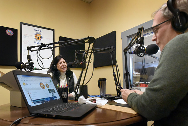 BRYAN EATON/Staff photo. Newburyport Mayor Donna Holaday was a guest on Local Pulse with Joe DiBiase on Saturday.
