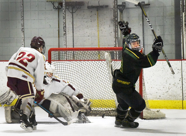 BRYAN EATON/Staff photo. Pentucket's Cam Martin get the first goal in the match with Newburyport.
