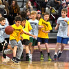 JIM VAIKNORAS/staff photo The Bay Hawks take on the Stampede of the Newburyport Boys Basketball Association, NBBA, in an abbreviated game at half-time of the Newburyport/Pentucket Boys high school game Monday at Newburyport High School.