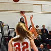 BRYAN EATON/Staff photo. O'Connor releases for the two points that would give her 1,000 as Olivia DeLong looks on.