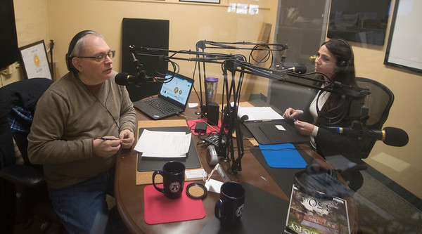 JIM VAIKNORAS/Staff photo Senator Diana DiZoglio speaks with Joe DiBiase on Local Pulse in Newburyport.