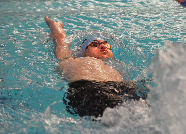BRYAN EATON/Staff photo. Jared Picciano in the 200 yard medley.