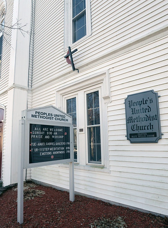 BRYAN EATON/Staff photo. People's United Methodist Church on Purchase Street in Newburyport.