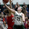 JIM VAIKNORAS/Staff photo Pentucket's Angelina Yacubacci glides past Masconomet's Callie McSweeney at Pentucket Friday night.