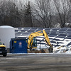 BRYAN EATON/Staff photo. Solar panels have been installed at the Massachusetts DOT maintenance facility on Rabbit Road in Salisbury.