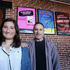 "BRYAN EATON/Staff photo. Sparhawk School student Lola Getz, with English and theater teacher Bob DeLibero, has written a play ""A Little Game of Life and Death"" to performed at the Firehouse Center."