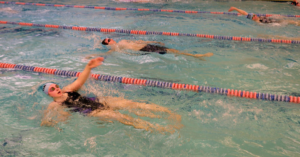 BRYAN EATON/Staff photo. Triton swimmers practice.