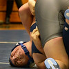 BRYAN EATON/Staff photo. Triton hosts Peabody wrestling. Triton's John Falasca tries to pin Peabody's Ben Caputo, bottom.