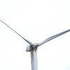 BRYAN EATON/Staff photo. The wind turbine at Mark Richey Woodworking in Newburyport is undergoing repairs.