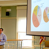 JIM VAIKNORAS/Staff photo  Newburyport Finance Director Ethan Manning speaks at a budget workshop at the Senior Center in Newburyport Saturday morning