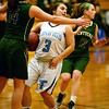 BRYAN EATON/Staff photo. Triton girls host Pentucket. Pentucket's Isabella Doyle blocks Triton's Melanie Primpas.