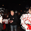 BRYAN EATON/Staff photo. A full house including Amesbury High School cheerleaders greeted Small Business Revolution's Amanda Brinkman and her team into the Stage II Cinema Pub.