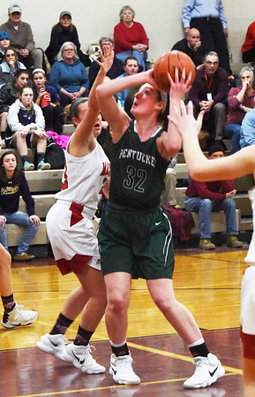 BRYAN EATON/Staff photo. Pentucket's Liv Cross is fouled by a Masconomet player.