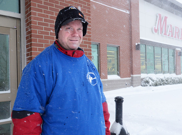BRYAN EATON/Staff photo. Jim Murphy volunteers to shovel snow or pick up groceries for elders and veterans.