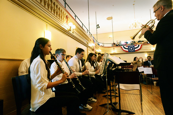 "BRYAN EATON/Staff photo. The Newburyport High School Band performs ""Accolade"" by Brady Massey."