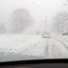 BRYAN EATON/Staff photo. With heavy snowfall at time, icing of windshields were an issue, here in a view heading down Lafayette Road in Salisbury.