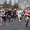 BRYAN EATON/Staff photo. The Frigid Fiver kicks off, sponsored by the Joppa Flats Running Club and Newburyport Rotary.