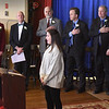 BRYAN EATON/Staff photo. Emily Phelan sings the National Anthem.