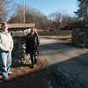 JIM VAIKNORAS/Staff photo Michelle Faulkner and Michael Sabatini at the entranceway to the Bradstreet Farm in Rowley for functions.