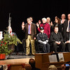 BRYAN EATON/Staff photo. Amesbury City Clerk Christine Dixon swears in the Amesbury City Council.