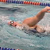 BRYAN EATON/Staff photo. Triton's Amanda Davies paddles in the 500 yard freestyle.