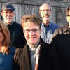 BRYAN EATON/Staff photo. Organizers of Greater Newburyport RISE, from left, Boyd Hancock, Keith Attenborough, Robin Wasson, Ted Russell and John Giordano.