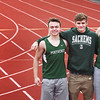 BRYAN EATON/Staff photo. Pentucket High track members, from left, Keegan O'Keefe, Jack Dickson and Jack Clohisy.