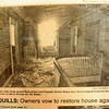 BRYAN EATON/Staff photo. Walls had been stripped to aid in drying from water used in the fire in the upstairs landing.