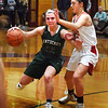BRYAN EATON/Staff photo. Masco's Sara Fogarty puts the pressure on Pentucket's Angleina Yacubacci.