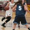 JIM VAIKNORAS/Staff photo Newburyport's Krysta Padellaro brings the ball up against Triton at Newburyport Friday night.