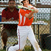 BRYAN EATON/Staff photo. Beverly's #7 hits a single.